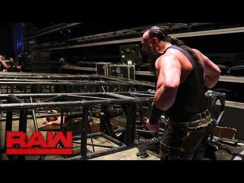 Braun Strowman pulls part of the Raw set down on top of Kane and Brock Lesnar: Raw, Jan. 8, 2018 thumbnail