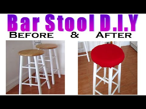 images of how to reupholster a bar stool with a built in sea