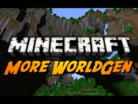 Minecraft Mod Review: WORLD GENERATION EDITOR 2! (256 World Height - Easy Mode)