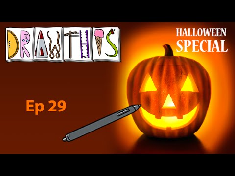 Jack-O'-Lantern - Draw This [Episode #29] (Painter 2015 Tutorial)
