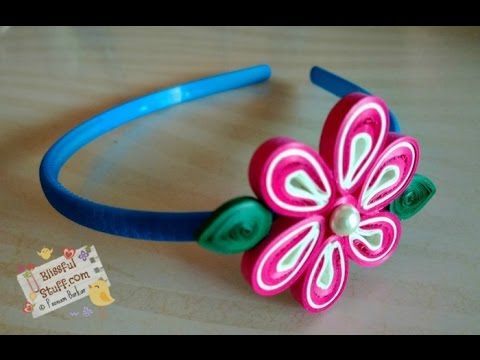 Diy Paper Quilled Hair Band