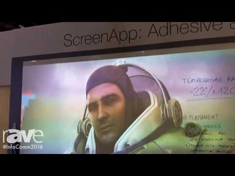 InfoComm 2016: Screen Line Exhibits the ScreenApp, an Adhesive and Magnetic Projection Screen