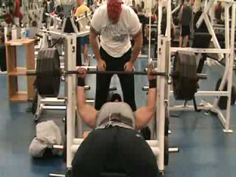 Allen Baria - Bench Press 405 lbs X 25 reps 500 lbs X 10 reps (RAW) Image 1