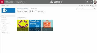 5 Add Promoted Links Web Part to Site