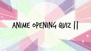 another anime opening quiz