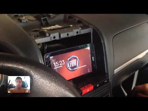 TABLET NO PAINEL DO CARRO - MULTIMÍDIA NO FIAT IDEA Tablet ou IPAD - Parte 1