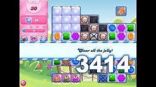 Candy Crush Saga Level 3414 (3 stars, No boosters)