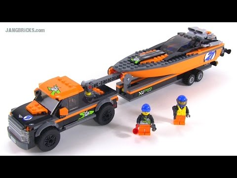 LEGO City 2015 4x4 + Powerboat review! set 60085