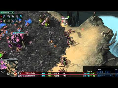 HD Starcraft 2 EG.Stephano v EG.Thorzain ZvT Heart of the Swarm g3
