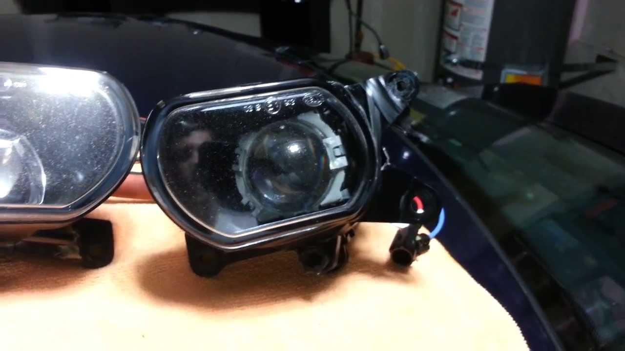 Projected Fog Lamp Retrofit in Audi B5 S4 2 7t YouTube