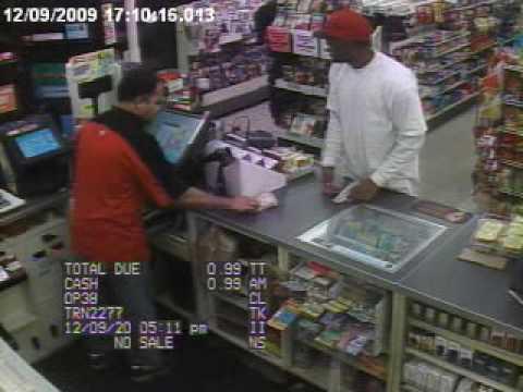 LASD Deputy walks in on a robbery in progress