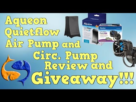 Aqueon Quietflow Air Pump/ Circulation pump review! Two reviews, one video!! KGTropicals! (CLOSED)