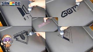 Download Lagu KPOP Group Logo  pancake art BTS, GOT7, BIGBANG, Seventeen, BLACKPINK Series 1 Gratis STAFABAND
