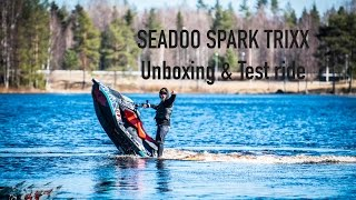 SFT VLOG// Seadoo spark trixx unboxing&test ride