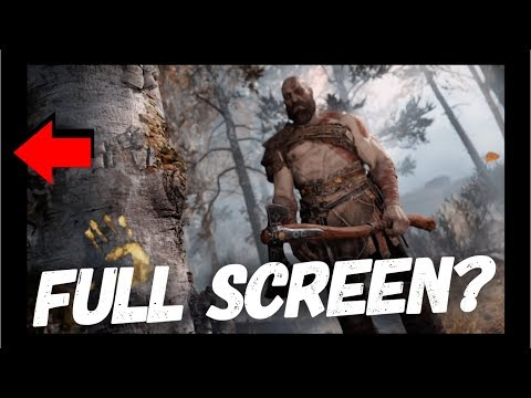 GOD OF WAR 4 | HOW TO SET FULL SCREEN | HOW TO REMOVE BLACK BORDERS | NO FULL SCREEN FIX