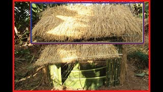 How to Build a Roof Using Rice - Build House Step By Step