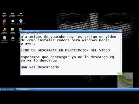Descargar e Instalr codecs para windows media player
