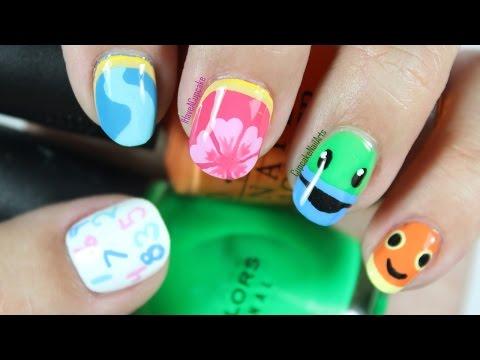 Umizoomi Inspired Nail Art