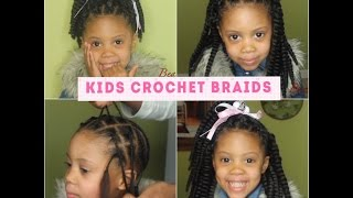 How To: Kids Crochet braids w four styles