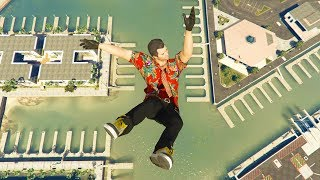 GTA 5 Jumps/Falls Ragdolls Compilation #8 (Euphoria physics - Funny Moments)