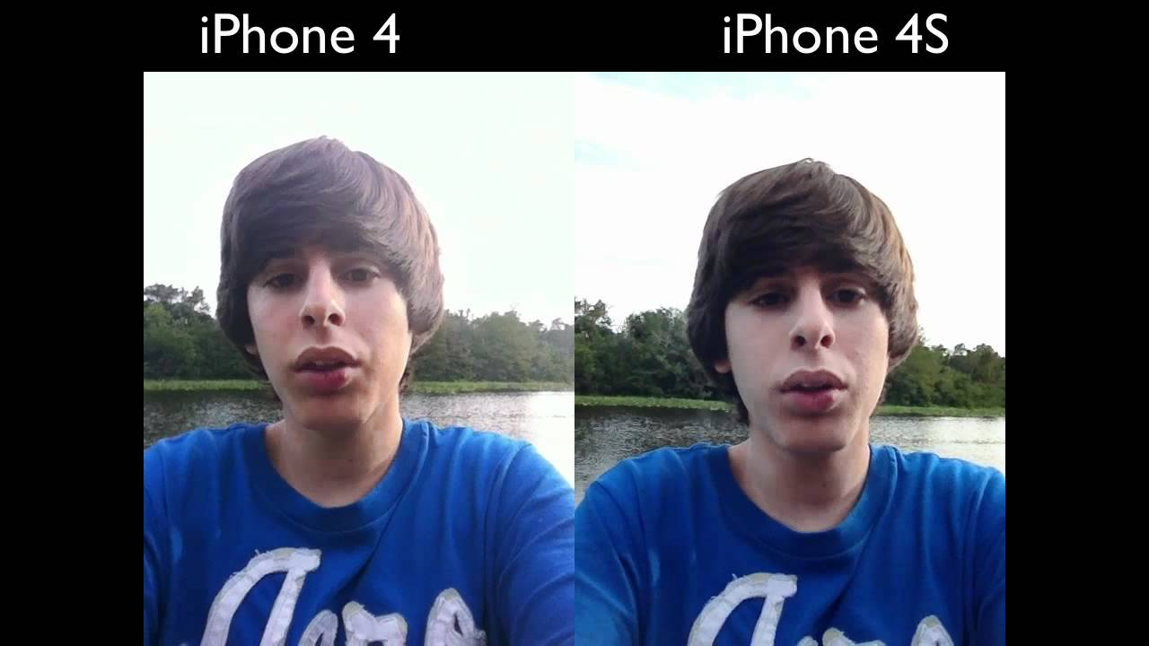 iPhone 4S NEW Front Facing Camera (Demo vs. iPhone 4 ...