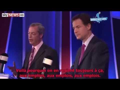 Nigel Farage Vs Nick Clegg: La Grande-Bretagne doit-elle sortir de l'Union Européenne ?