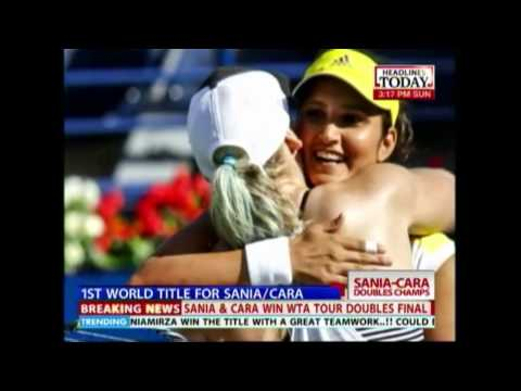 Sania Mirza & Cara Black win the WTA doubles final