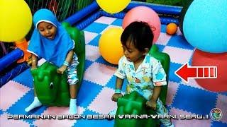 Permainan Anak, Balon Besar Warna Warni, Seru..!!