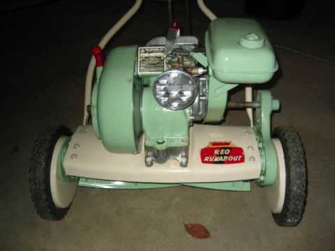 1953 Craftsman Power Reel Mower First Startup 2009 How