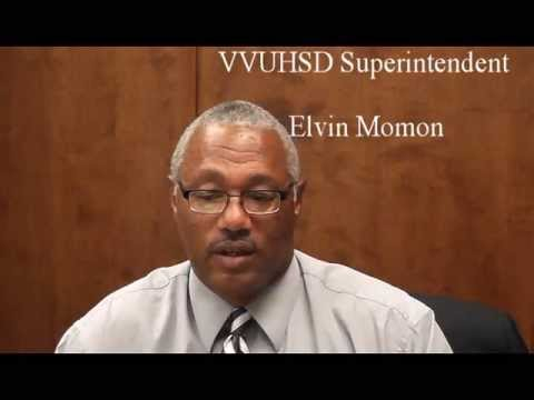 VVUHSD Elvin Momon Superintendent at Victor Valley Union High School District