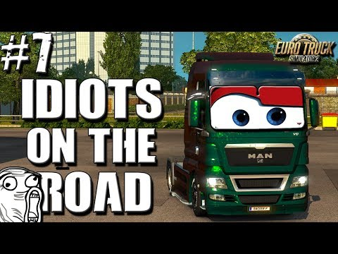 Euro Truck Simulator 2 Multiplayer Idiots On Road Random Funny