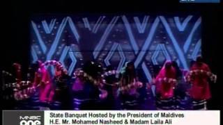 17th Saarc summit state banquet - stage items Saalu fathuraa