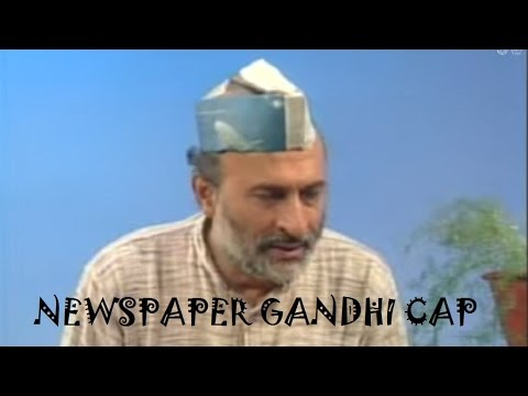 GANDHI CAP FROM NEWSPAPER - HINDI - ARVIND GUPTA