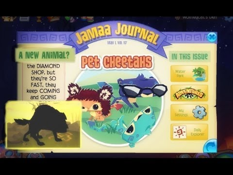 Animal Jam: Updates Pet Cheetah HYENA