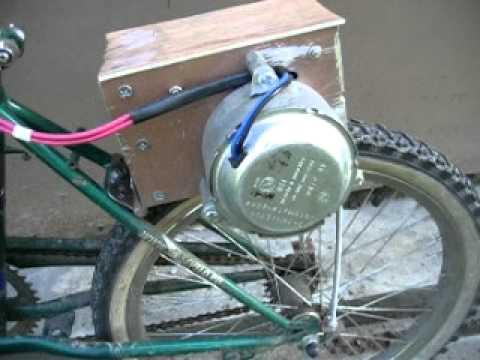 Электровелосипед из двигателя