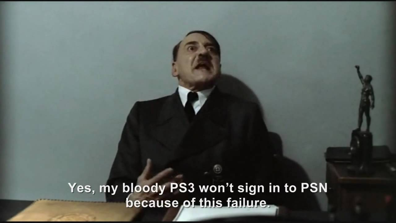 Hitler is informed about the PS3 clock bug