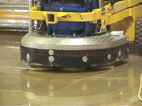 Polished concrete with Klindex floor machines, diamond tools, vacuums