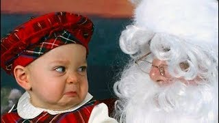 FUNNY BABIES will make you FAIL THIS TRY NOT TO LAUGH challenge - BABIES Meeting Santa  Claus