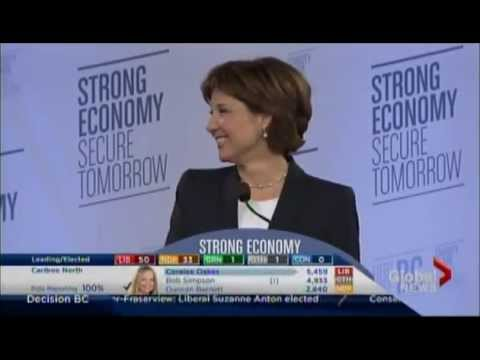 Premier Christy Clark's 2013 Election Victory Speech