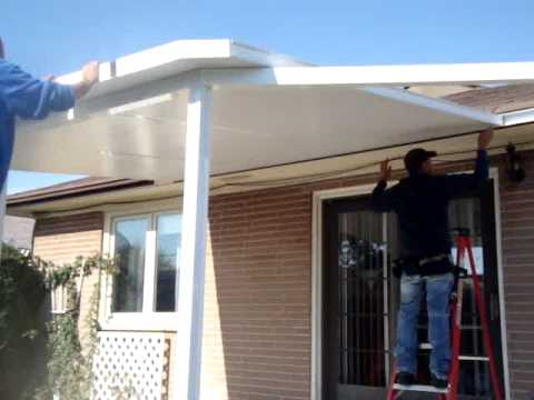 HOW TO INSTALL AN INSULATED ROOF PANELS PART 3