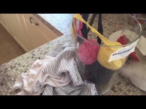 Готовим нити из старых и ненужных вещей для вязания