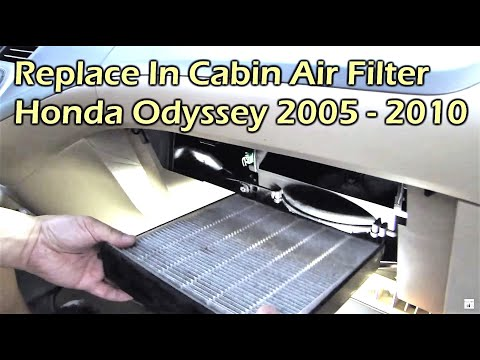 Honda Odyssey Replace In Cabin Air Filter (2007 - 2010)