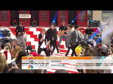 One Direction - Live While We're Young  Todays Show 13 11 12 video