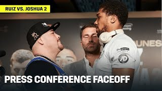 Andy Ruiz & Anthony Joshua Have INTENSE Face-Off At Press Conference