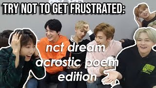 why the dreamies say no to mark when he wants to do an acrostic poem