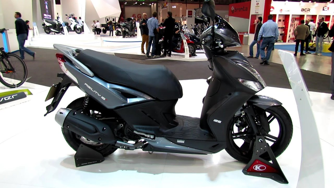 2014 kymco agility 16 125 scooter walkaround 2013 eicma milano motorcycle exhibition youtube. Black Bedroom Furniture Sets. Home Design Ideas