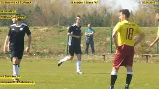 """TS Stale - KS Żupawa (2-1 Wierzgacz Paweł) 20.04.2019  Klasa """"A"""""""