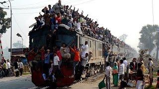 Most Dangerous Train Journey In The World    Dhaka Bangladesh Railway    Bhaarat Today
