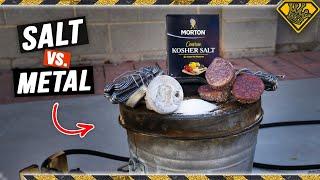When Molten Salt Hits Molten Metal