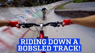 MTB Downhill Mountain Bike on a Bobsled Track!